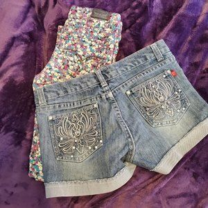 Girls Bundle Jeans and jean shorts size 14